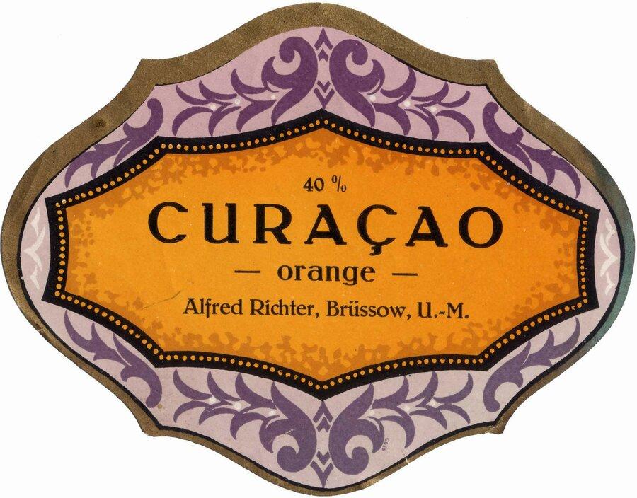 Etikett Curacao Orange, ©Stephan Becker, Brüssow