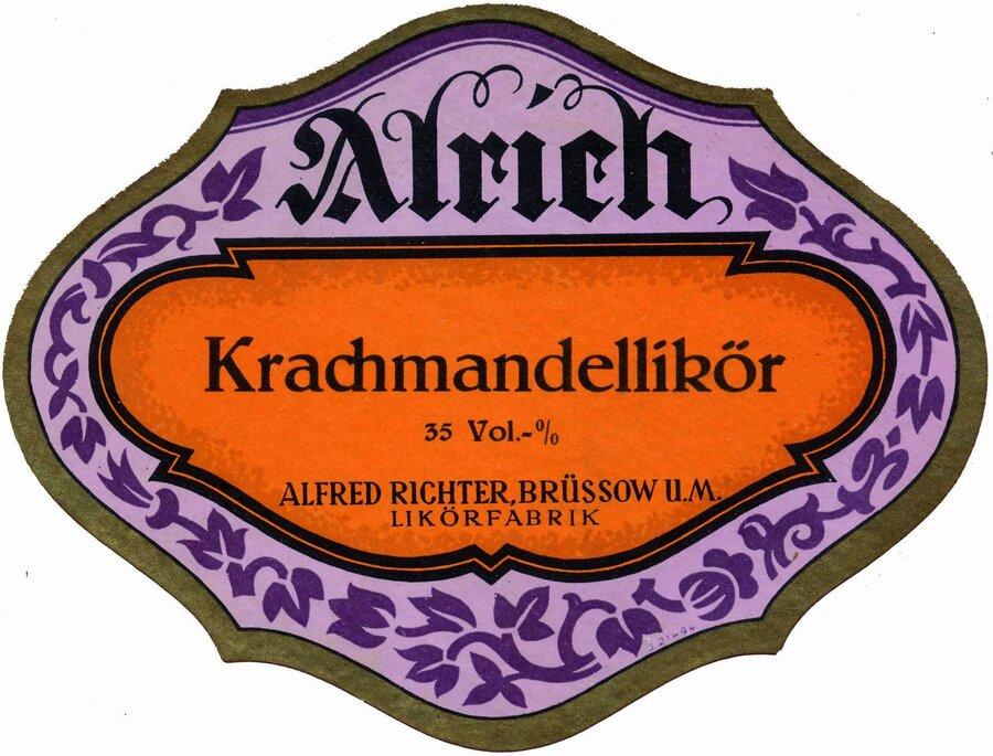 Etikett Krachmandellikör, ©Stephan Becker, Brüssow