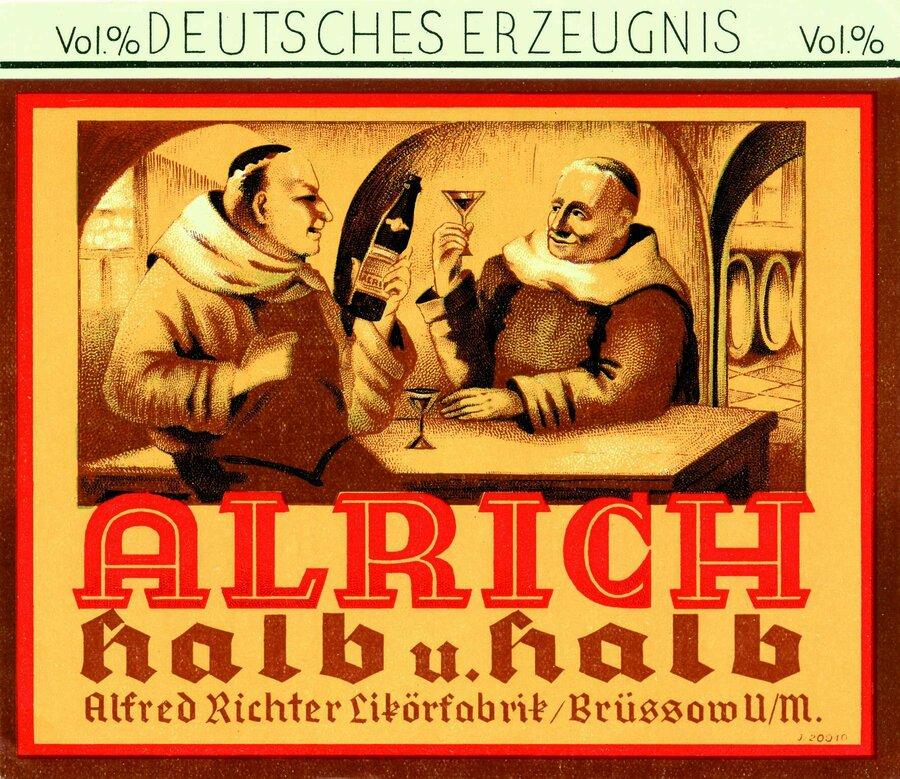 Etikett Alrich Halb & Halb Vorderseite, ©Stephan Becker, Brüssow