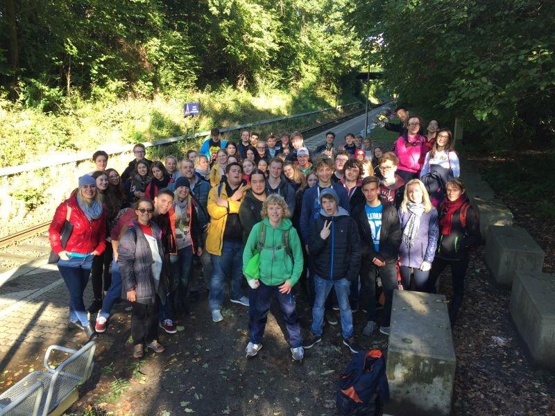 Erasmusgruppe UND Tandem-Aktion im Hansepark