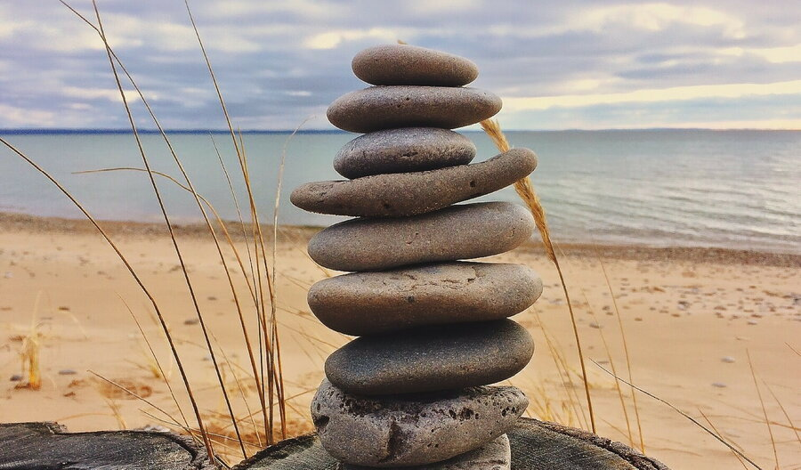 gestapelte Steine