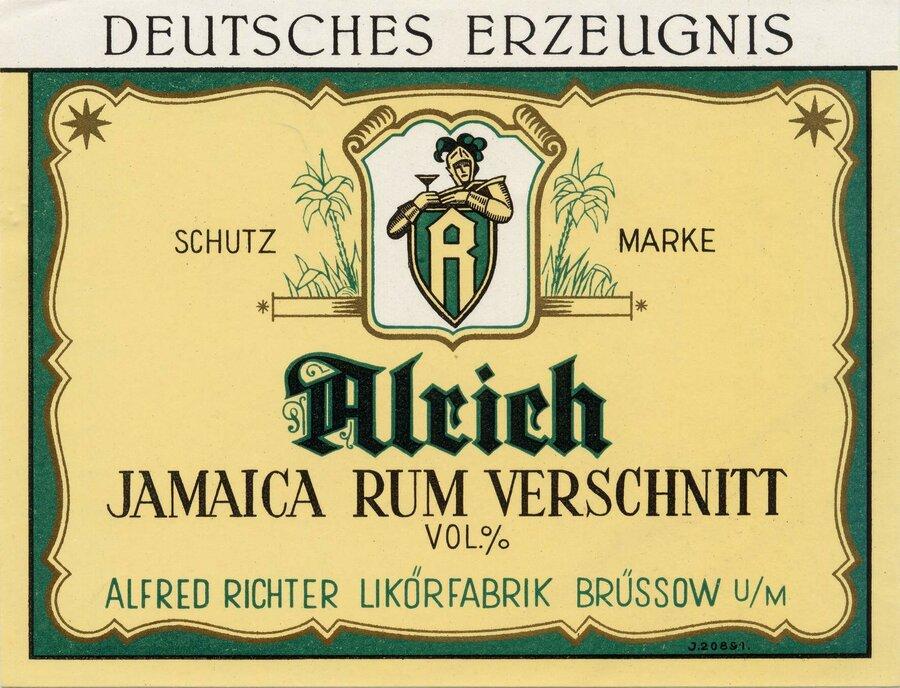 Etikett Jamaica Rum Verschnitt, ©Stephan Becker, Brüssow