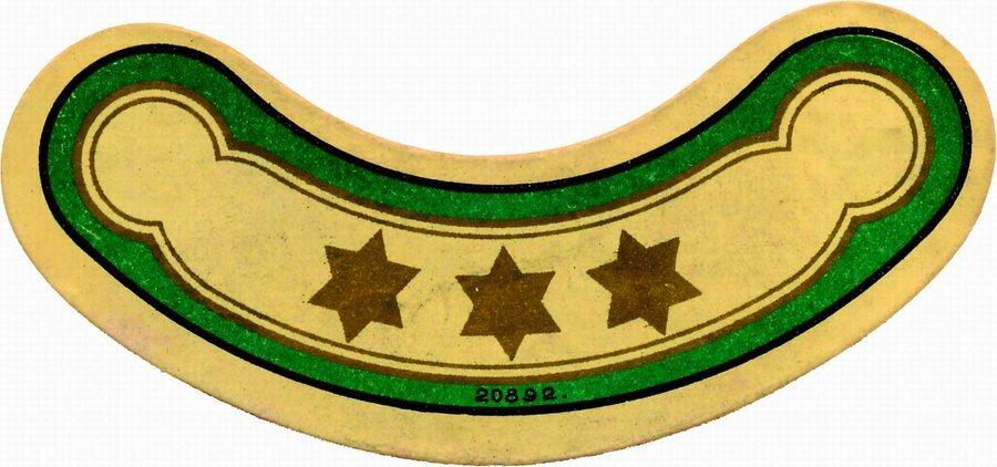 Etikett Halsschild 3 Sterne, ©Stephan Becker, Brüssow