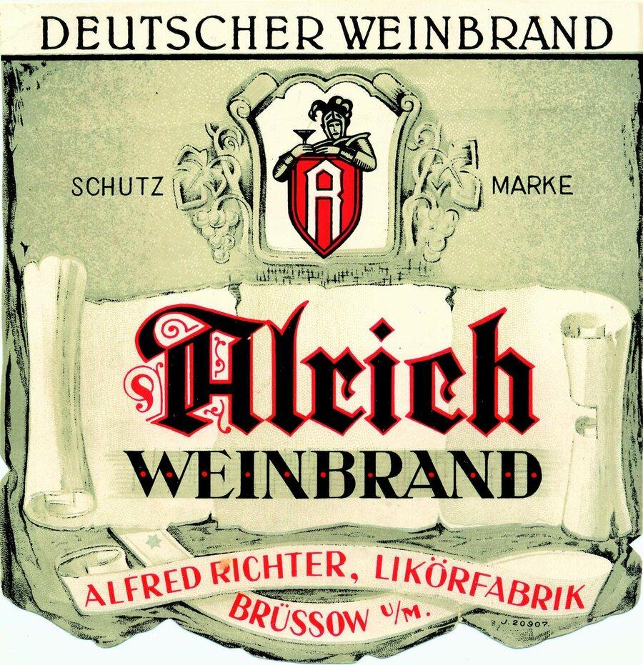 Etikett Weinbrand, ©Stephan Becker, Brüssow