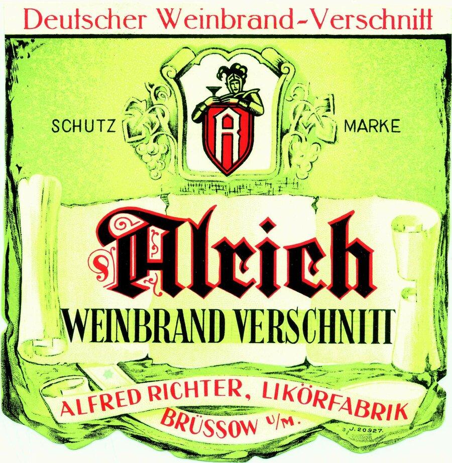 Etikett Weinbrand-Verschnitt, ©Stephan Becker, Brüssow
