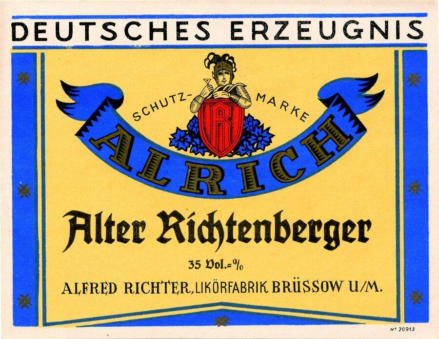 Etikett Alter Richtenberger, ©Stephan Becker, Brüssow