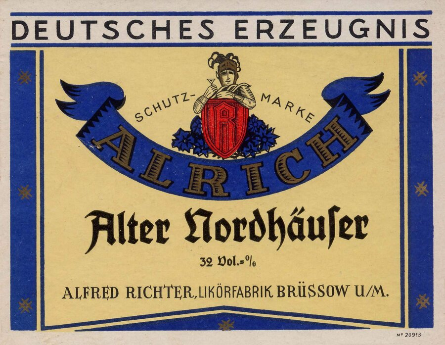 Etikett Alter Nordhäuser, ©Stephan Becker, Brüssow