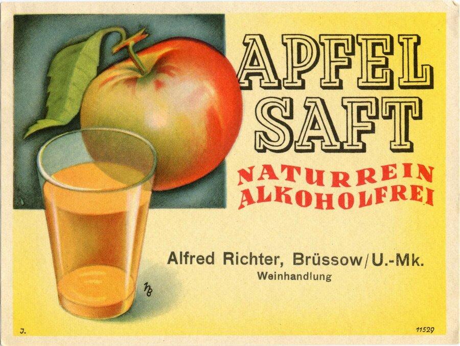 Etikett Apfelsaft, ©Stephan Becker, Brüssow