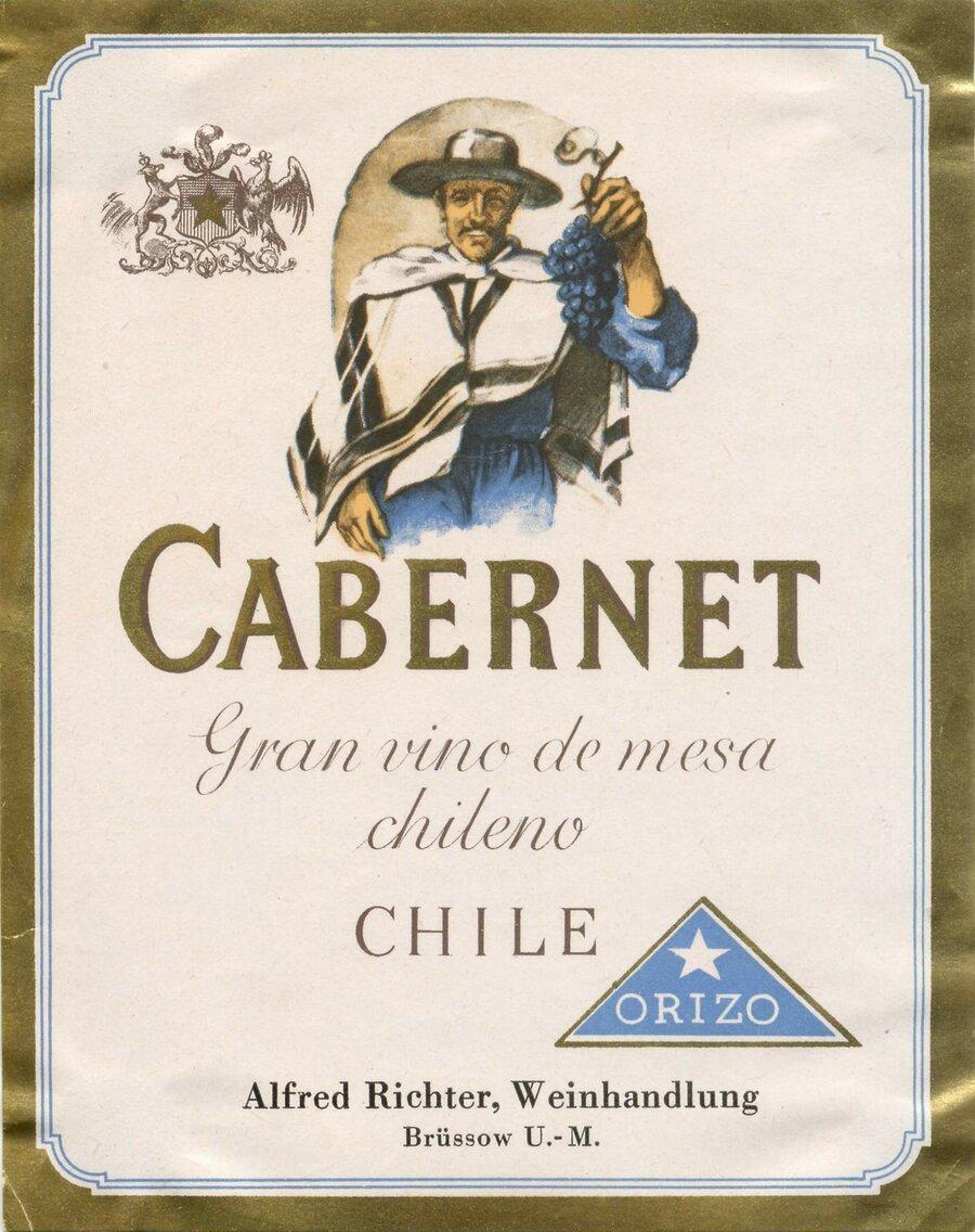 Etikett Wein Cabernet, ©Stephan Becker, Brüssow