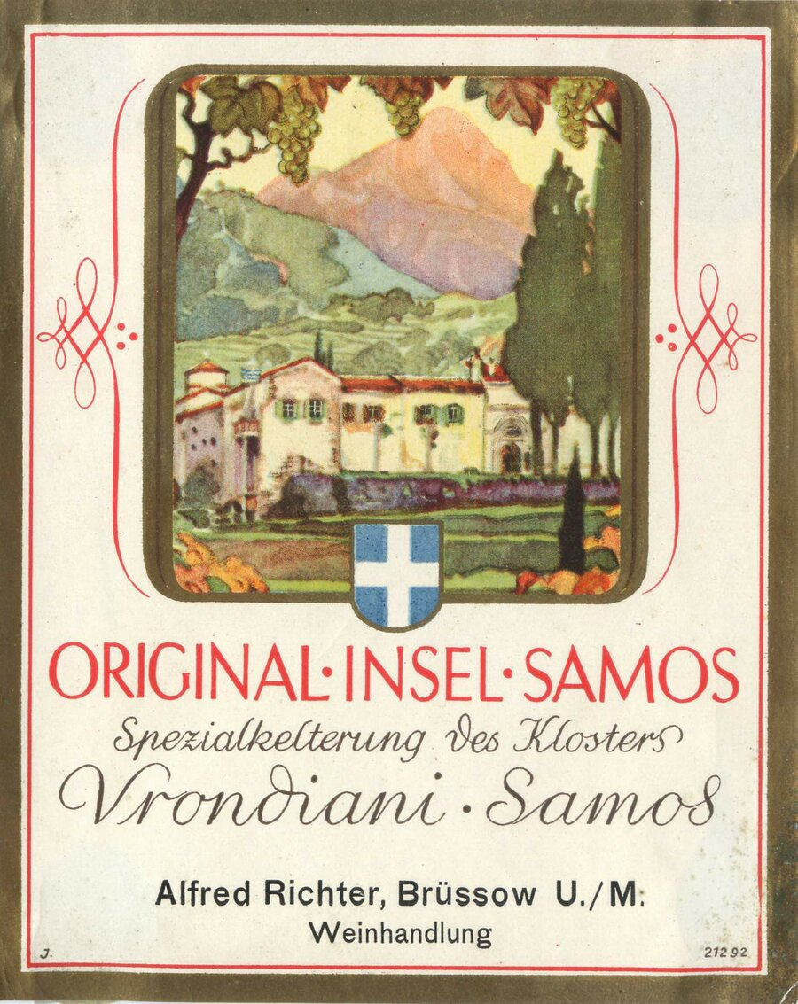 Etikett Wein Original Insel Samos, ©Stephan Becker, Brüssow
