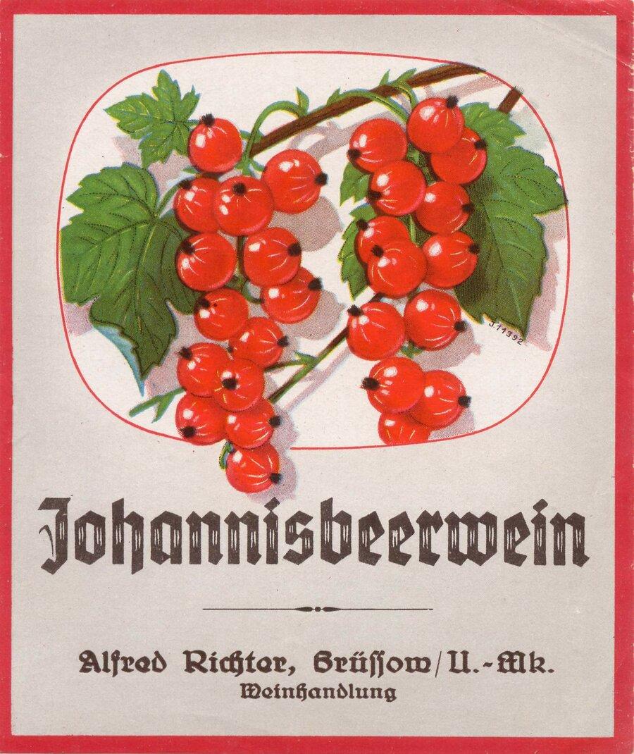 Etikett Johannisbeerwein, ©Stephan Becker, Brüssow