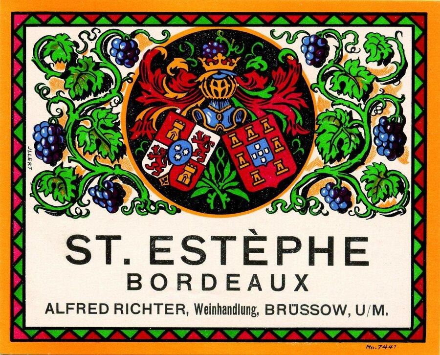 Etikett Wein St. Estephe, ©Stephan Becker, Brüssow
