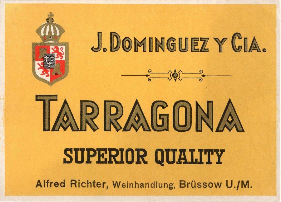 Etikett Wein Tarragona, ©Stephan Becker, Brüssow