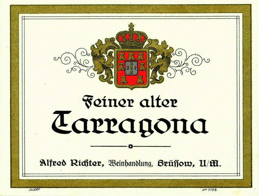 Etikett Wein Feiner alter Tarragona, ©Stephan Becker, Brüssow