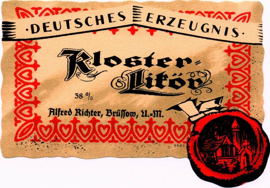 Etikett Klosterlikör, ©Stephan Becker, Brüssow