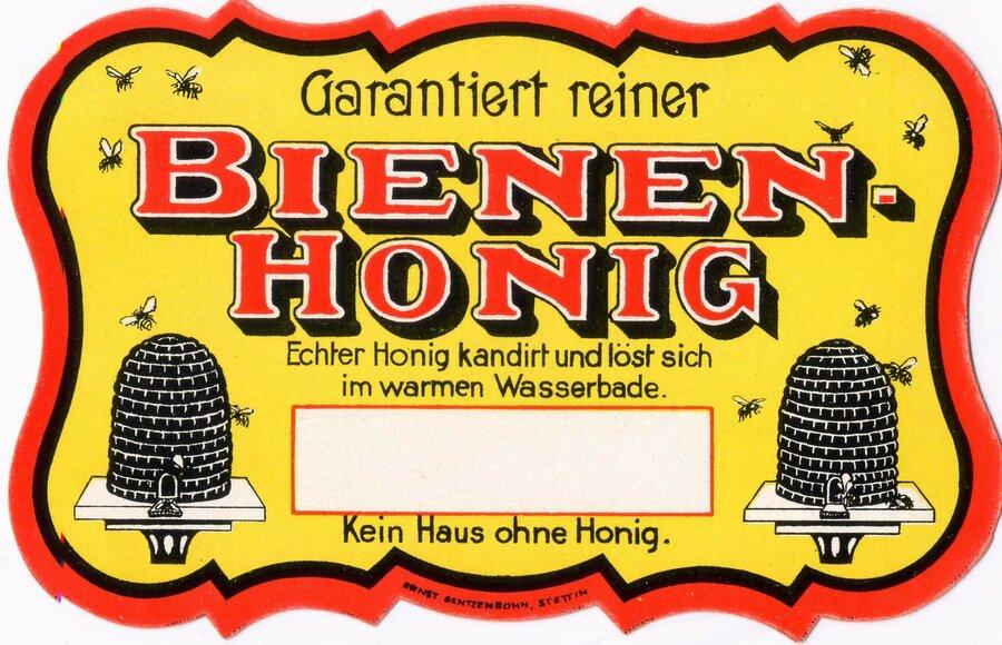Etikett Bienenhonig, ©Stephan Becker, Brüssow
