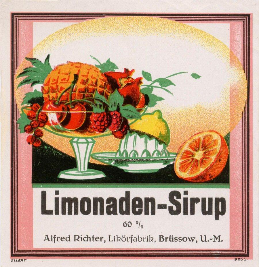 Etikett Limonaden Sirup, ©Stephan Becker, Brüssow