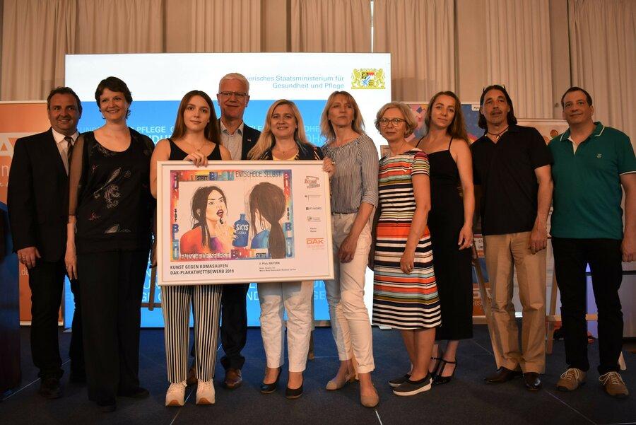 Vertreter der Gesundheitsregion plus Passauer Land mit StMin Melanie Huml und den Preisträgerinnen