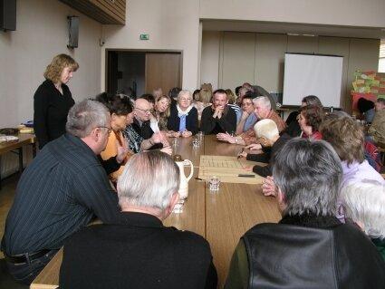Diskussion der gewünschten Ziele der Dorfentwicklung
