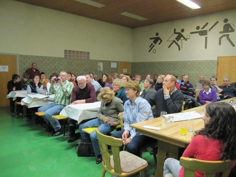 Die Dorfkonferenz am 28.1.2012 war sehr gut besucht