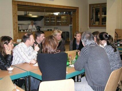 Gruppenarbeit bei der Dorfkonferenz: Visionen für 2030