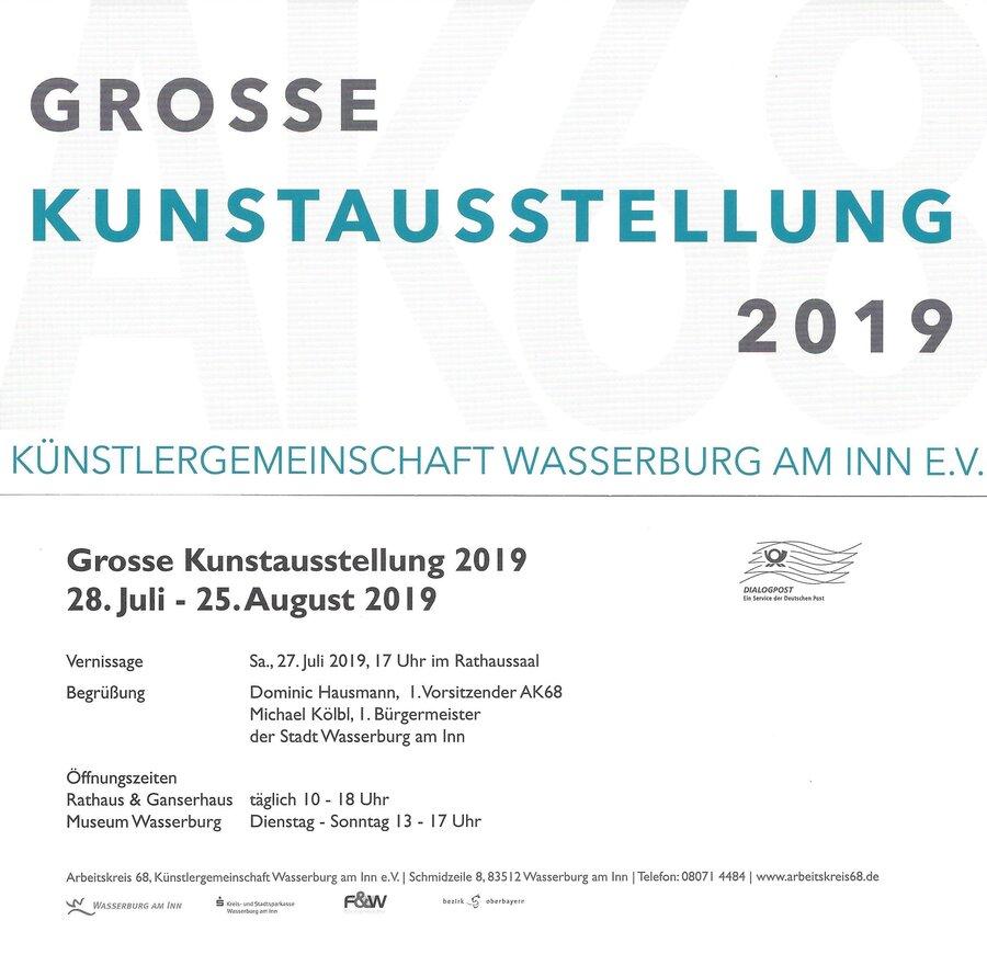 Große Kunstausstellung 2019 Wasserburg