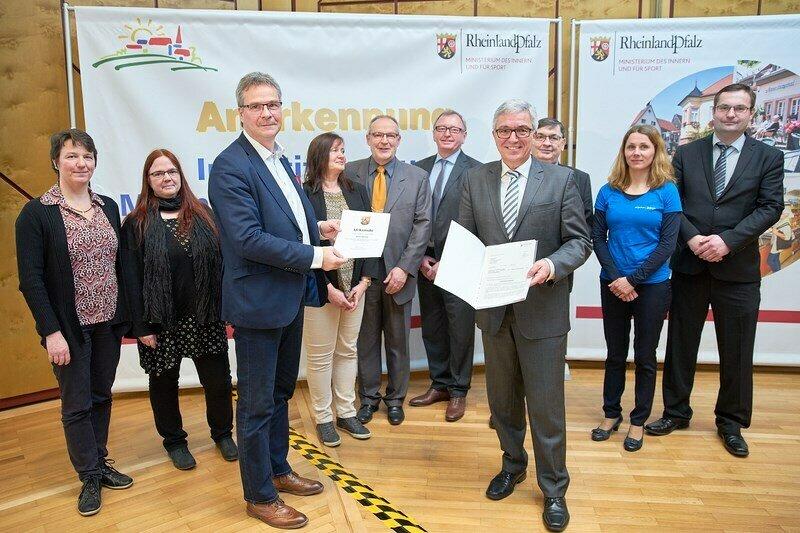 Anerkennung als Schwerpunktgemeinde am 9. März 2018 im Schloß Waldthausen
