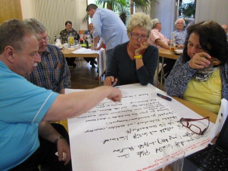 Dorfkonferenz: Arbeitsgruppe Dorfgemeinschaft und Vereine