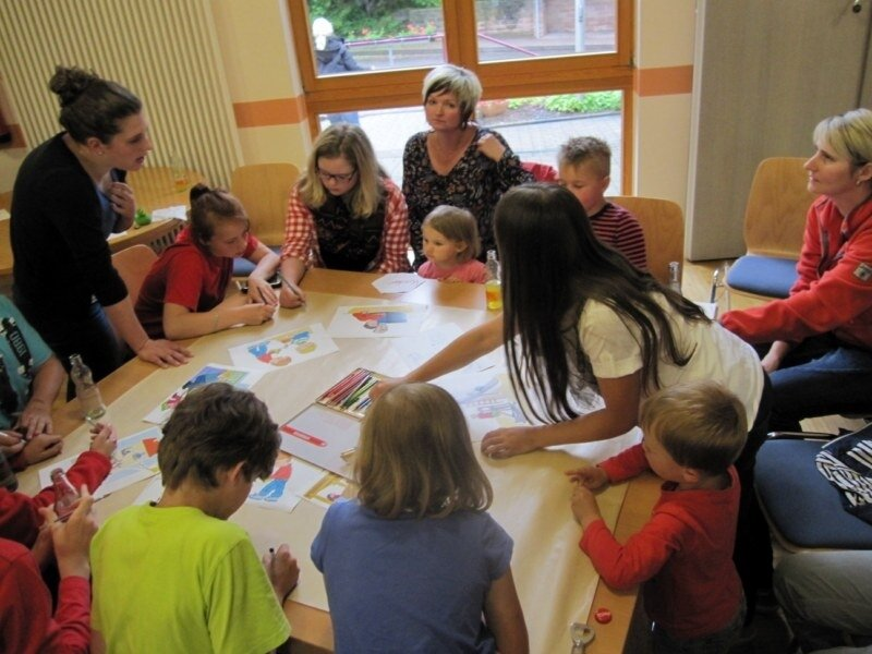 Die Kindergruppe bei der Kinder- und Jugendkonferenz
