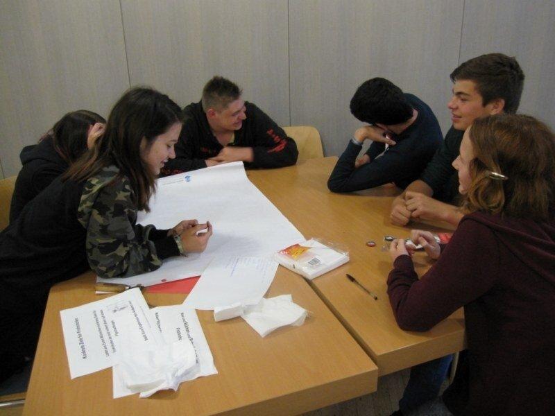 Die Jugendlichen bei der Kinder- und Jugendkonferenz
