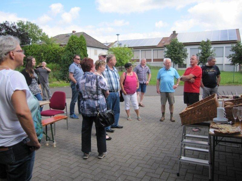 Besichtigung des Dorfladens in Hergenfeld