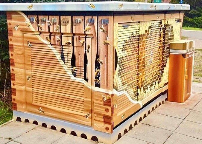 Bienen Haus gezeichnet von ART EFX 2