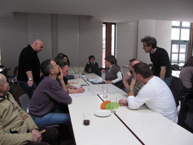 Arbeitsgruppen diskutieren