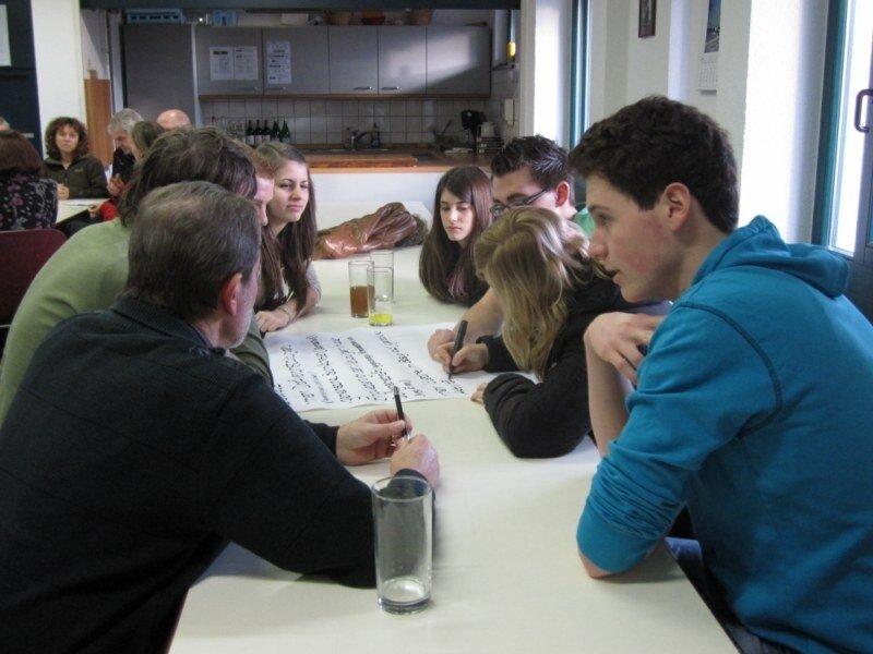 Auch Jugendliche machten mit bei der Dorfkonferenz