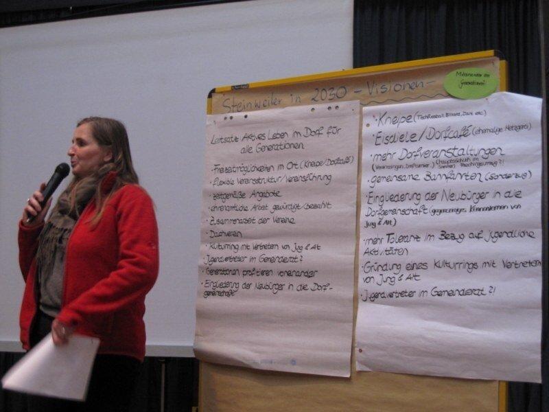 Vorstellung der Visionen für 2030 - AG Miteinander der Generationen