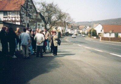 Verkehrsberuhigende Maßnahmen waren ein wichtiges Thema bei der Dorfbegehung