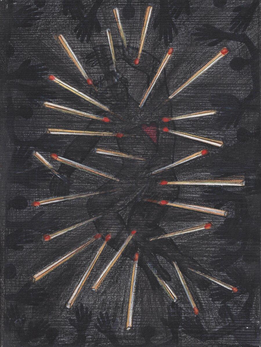 on fire - 28 x 21 cm, 2008