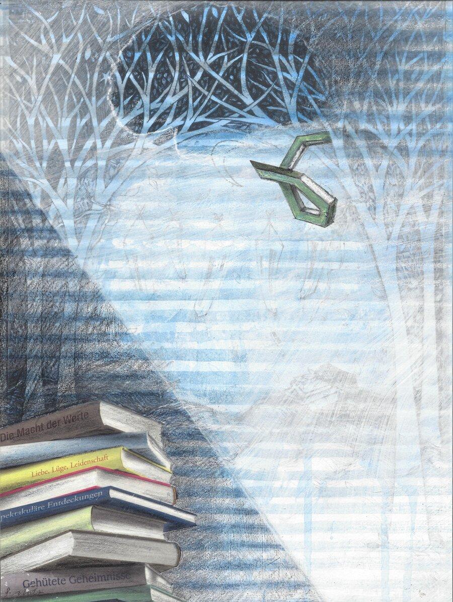 head-landscape - 28 x 21 cm, 2008