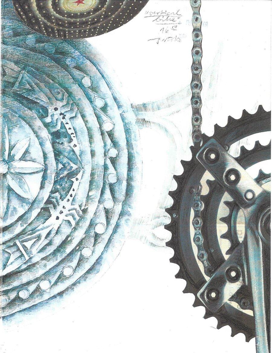 vertical bike - 28 x 21 cm, 2008