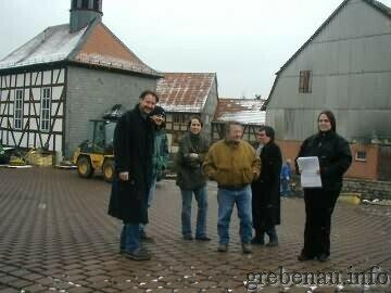 Der Dorfplatz im Bau (Foto: Bgm. Ackermann)
