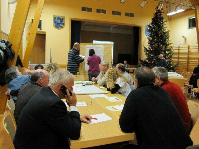 Erarbeiten der Visionen für 2030 für Niederlibbach