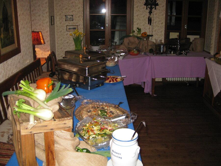 Buffet in der Küche