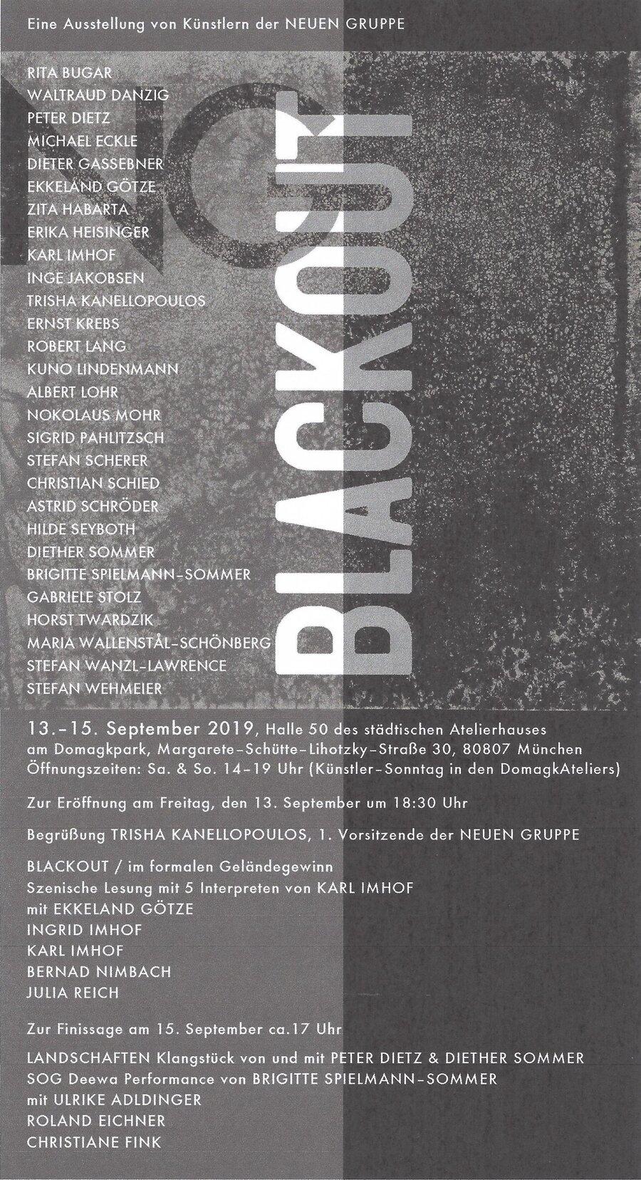 Einladung Blackout