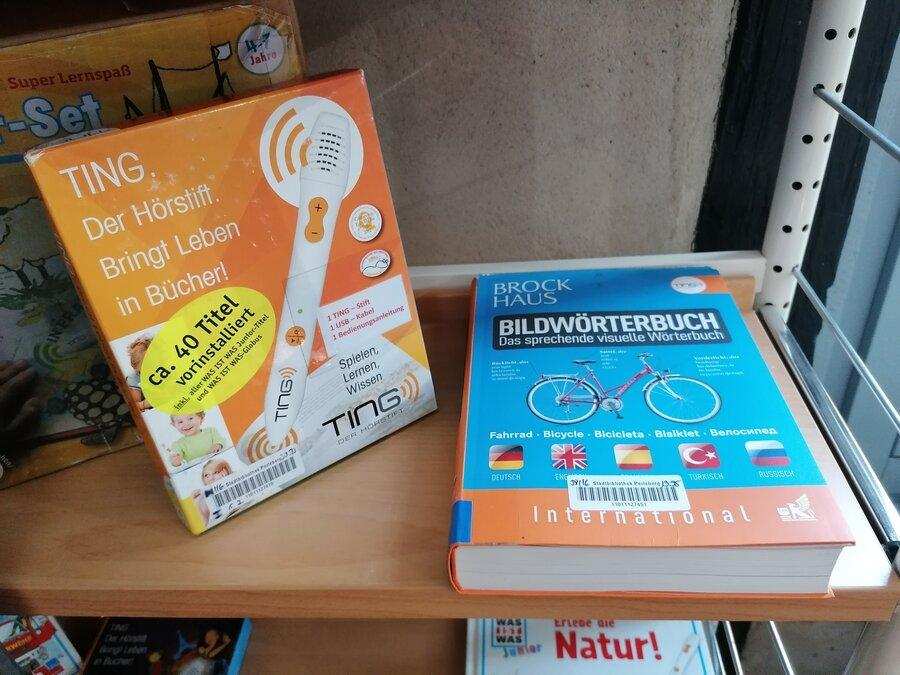 TING-Hörstifte und Bücher | Foto Stadt Perleberg
