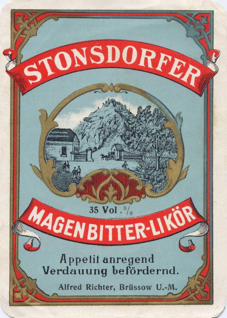 Etikett Stonsdorfer Magenbitterlikör, ©Stephan Becker, Brüssow