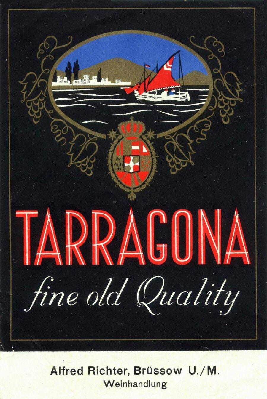 Etikett Tarragona fine old Quality, ©Stephan Becker, Brüssow