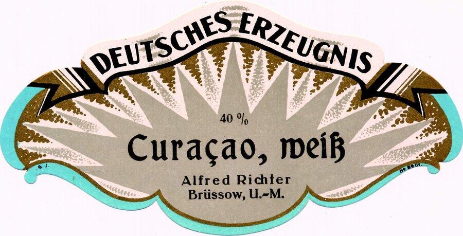 Etikett Curacao weiß, ©Stephan Becker, Brüssow