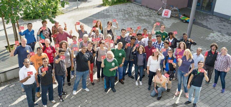 Bild zeigt Freiwillige beim Freiwilligentag, Foto: Maintal Aktiv - Freiwilligenagentur