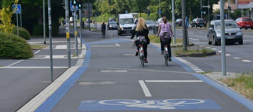 Dieses Bild zeigt einen Radschnellweg Stadt Göttingen