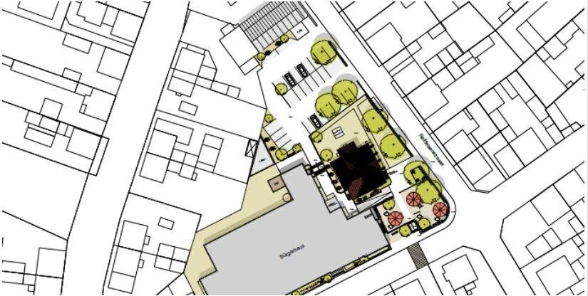 Bild: Pläne zur Umgestaltung der Ortsmitte; Klaus Heim GmbH